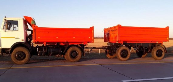 Аренда а/м МАЗ 555102 (самосвал) с прицепом